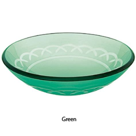 glass bathroom sink bowls decolav 17 quot green etched non tempered glass bathroom