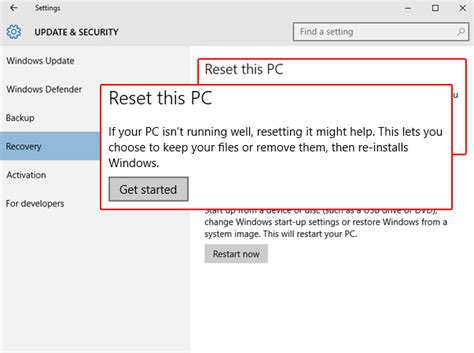 reset wifi to factory settings get help with system restore in windows 10 how to get