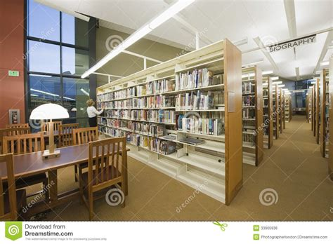 reading room in library royalty free stock image image