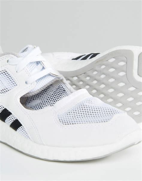 lyst adidas originals originals white lace up open sneakers in white