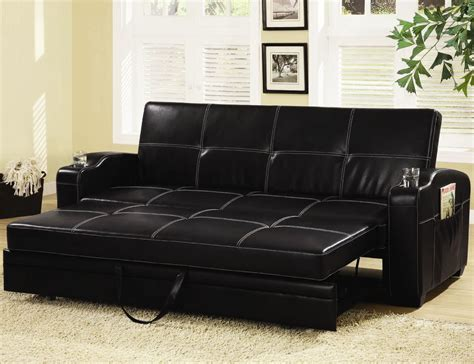 leather sofa mumbai buy black color leather sofa bed online in mumbai at