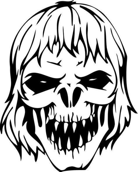 zombie mask coloring page zombie skull vinyl decal sticker