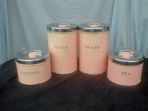 pink kitchen canister set a gorgeous vintage pink canister set vintage kitchen canister sets vintage