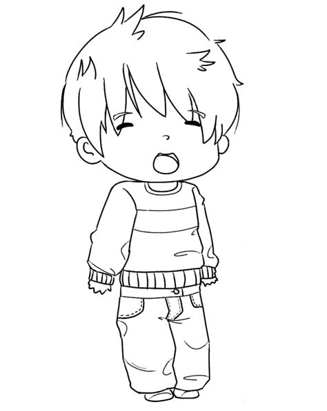 Chibi Boy Lineart 2 By A Alfie On Deviantart How To Draw A Chibi Boy