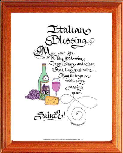 Wedding Blessing In Italian by Italian Wedding Quotes Just B Cause