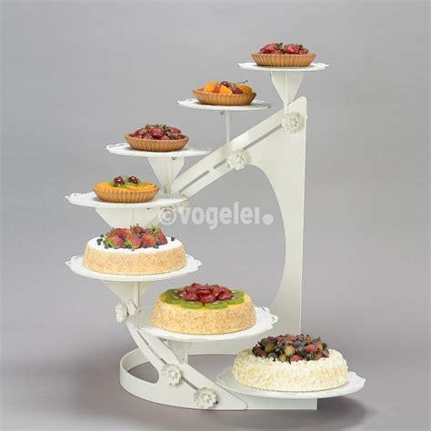 deco to go torten etagere metall linksdrehend weiss - Etagere Torte