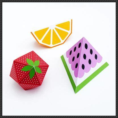New Paper Craft 3d Fruit Papercrafts Free Templates Download On Papercraftsquare 3d Papercraft Templates Free