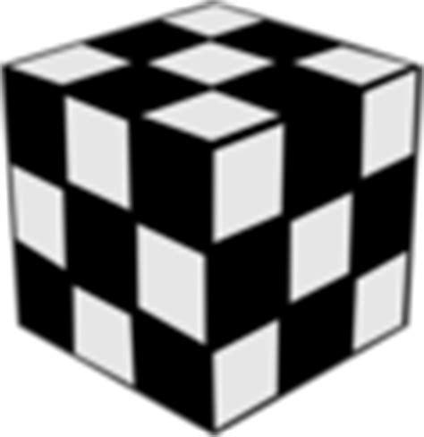 Rubik Infinity Cube Black Or White rubik cube black white clip at clker vector clip royalty free