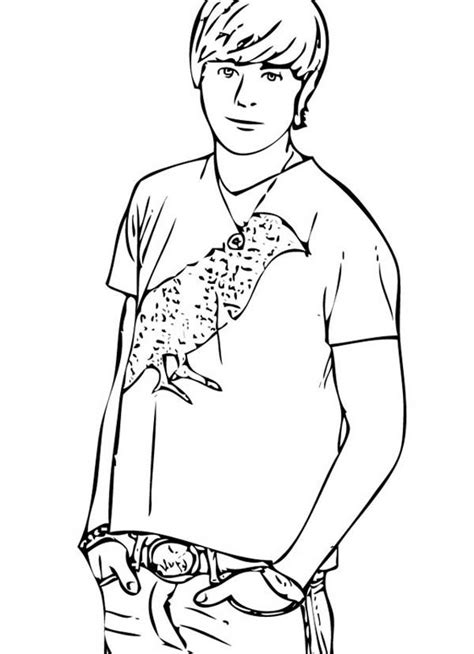 Popular Male Student In High School Musical Coloring Page Coloring Pages For Highschool Students