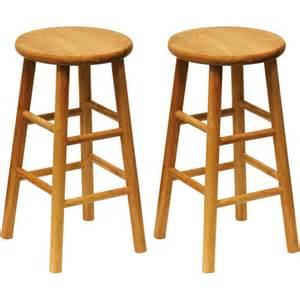 24 Inch Wood Bar Stools Beech Wood Counter Stools 24 Quot Set Of 2 Walmart