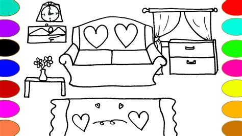 drawing room colour games living room drawing and coloring pages color with