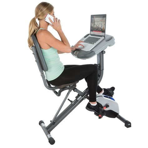 Amazon Com Exerpeutic Workfit 1000 Fully Adjustable Desk Exercise Bike Computer Desk