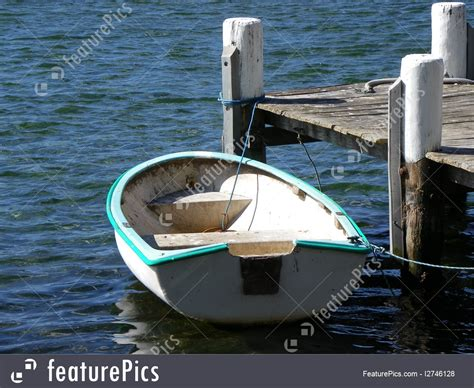 moored row boat picture