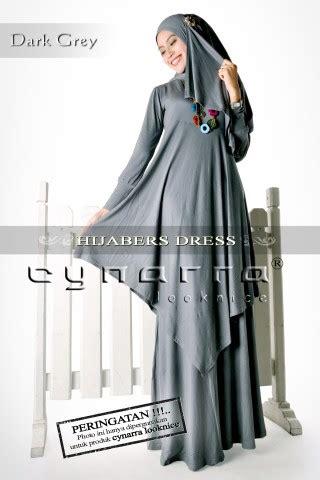 Ghaida Dress Hitam dress hijaber abu tua baju muslim gamis modern
