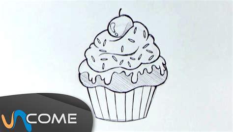 come si disegnano i fiori come disegnare un muffin o un cupcake facilmente