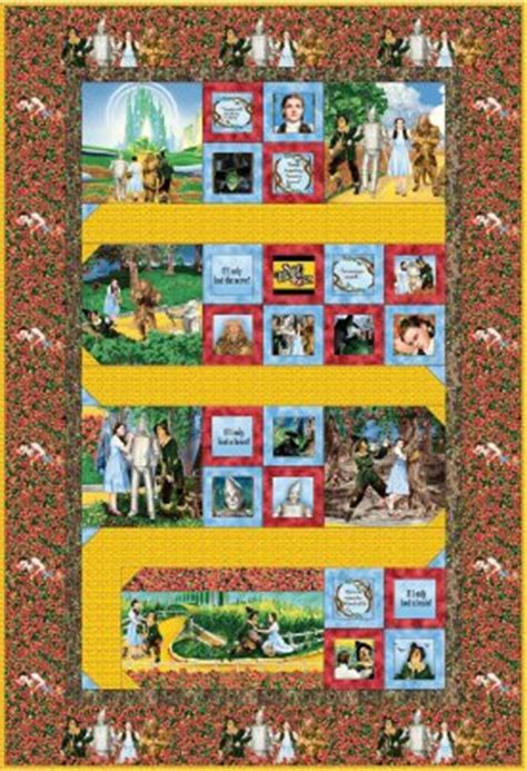 Wizard Of Oz Fabric Quilting Treasures by Wizard Of Oz Follow The Yellow Brick Road Fabric Quilt Kit