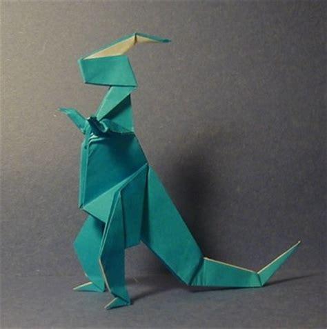 Origami Parasaurolophus - parasaurolophus prehistoric origami the unofficial