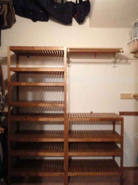 ikea hack bench closet system using ikea molger bench ikea hackers
