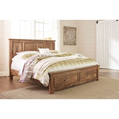 ashley furniture platform beds ashley signature design blaneville king panel storage