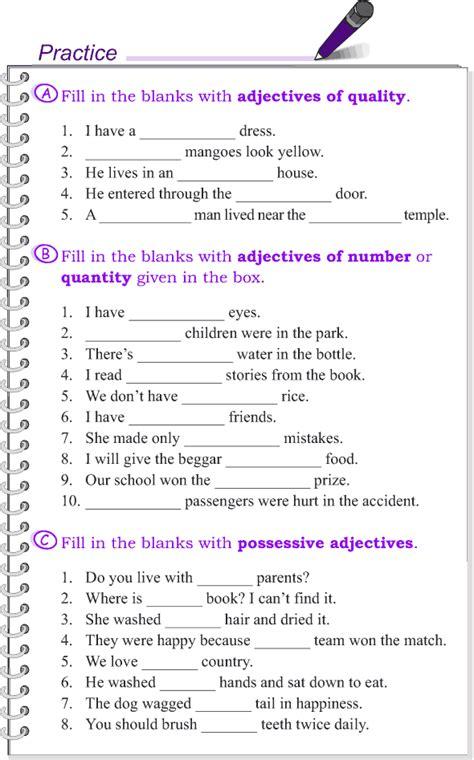 grade 4 grammar lesson 10 kinds of adjectives 4