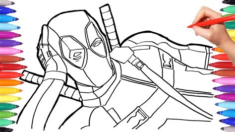 marvel coloring books marvel deadpool coloring pages how to draw deadpool