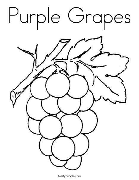 Purple Grapes Coloring Page | purple grapes coloring page twisty noodle