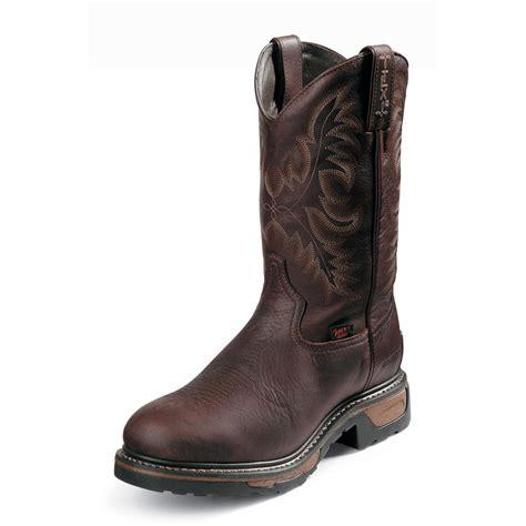 steel toe cowboy boots for tony lama 174 11 quot tlx 174 western waterproof steel toe boots
