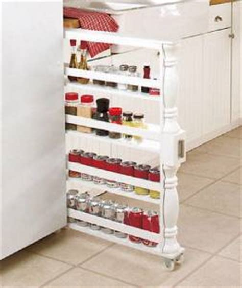 Narrow Spice Rack On Wheels New Wooden Rolling Slim Kitchen Can Spice Storage