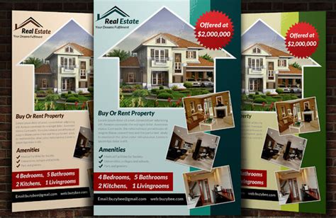 10 professional real estate brochure templates free