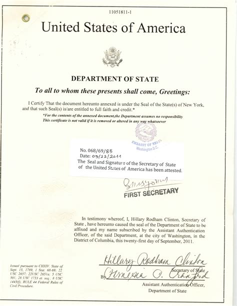 certification letter to embassy apostille exles legalization exles