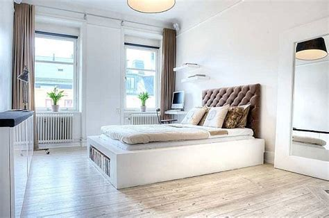 simple stylish  bedroom apartment   heart