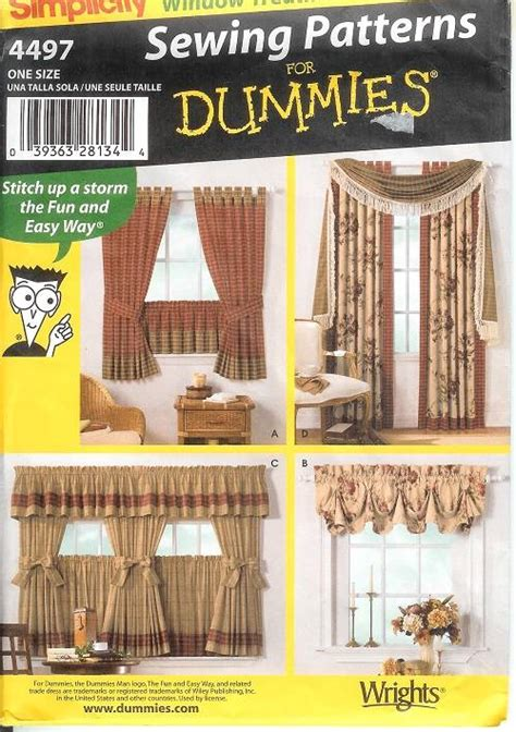 sewing patterns for home decor simplicity window treatment covering curtains drapes home