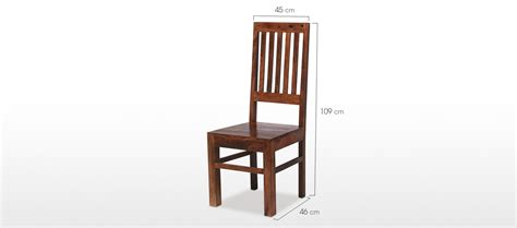 Dining Room Chair Dimensions Jali Sheesham High Back Slat Dining Chairs Pair Quercus Living