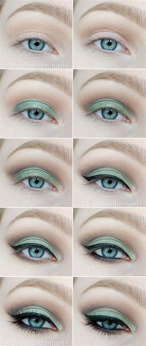 eyeliner tutorial for green eyes 10 step by step makeup tutorials for green eyes her