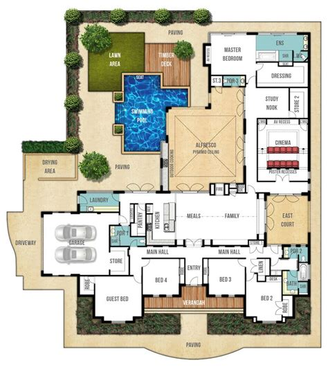 country mansion floor plans
