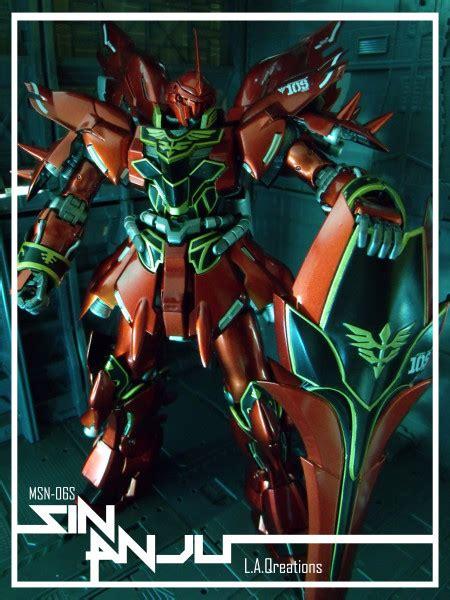 Hg 1 144 Delta Gundam Gold Coating msn 06s sinanju custom by l a qreations