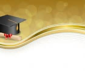 graduation cap with diploma and golden abstract background 08 vector abstract vector