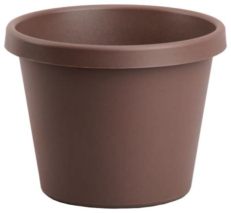 24 Inch Planter akro mils classic pot 24 inch chocolate contemporary outdoor pots and planters by ergode