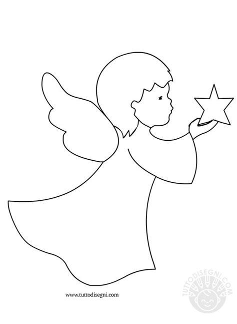 Disegni di angeli   Angelo con stella   TuttoDisegni.com