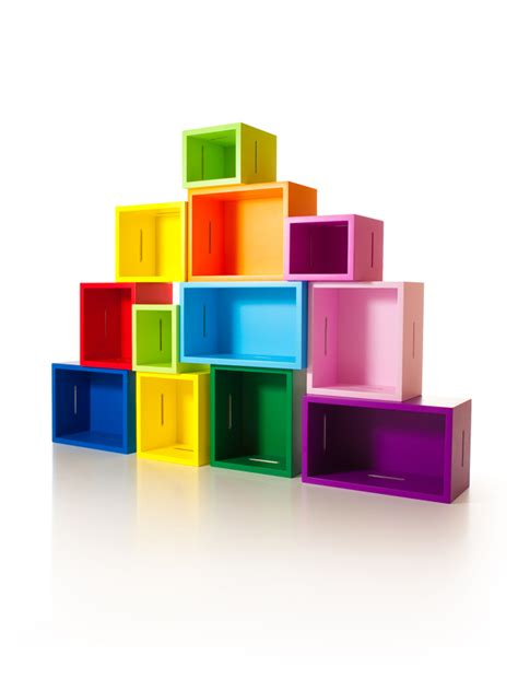 the colorful and colorado bookcase