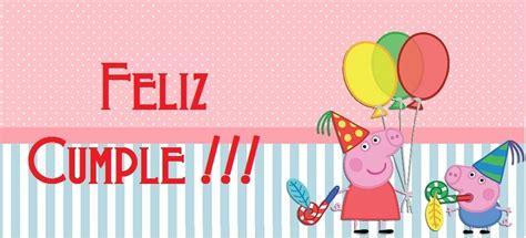 carteles de cumpleaos de pepapig imagen de feliz cumplea 241 os con peppa pig todo peques