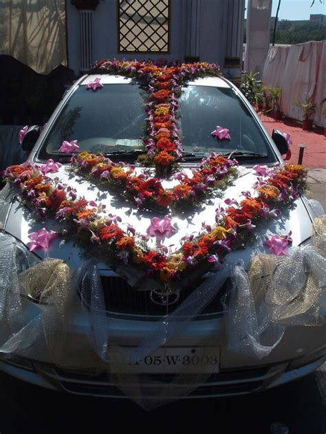 Fresh Flower Car Decoration by Floral And Landscaping Wedding Flower Deco Indian Wedding