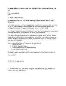 visa cover letter sle letter of invitation for uk visa templatevisa invitation