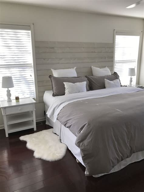 shiplap bedroom diy shiplap headboard home sweet home pinterest