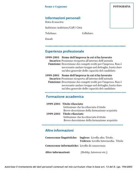 modello europass 2016 da scaricare curriculum vitae modello 01 modello curriculum