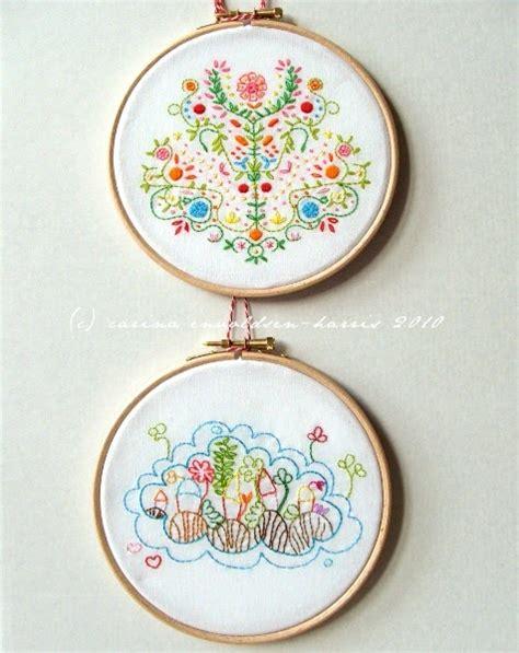 embroidery design in the hoop polka bloom embroidery hoop framing tutorial
