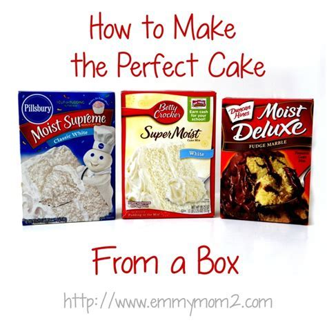 How to make the perfect cake  from a box mix! Great