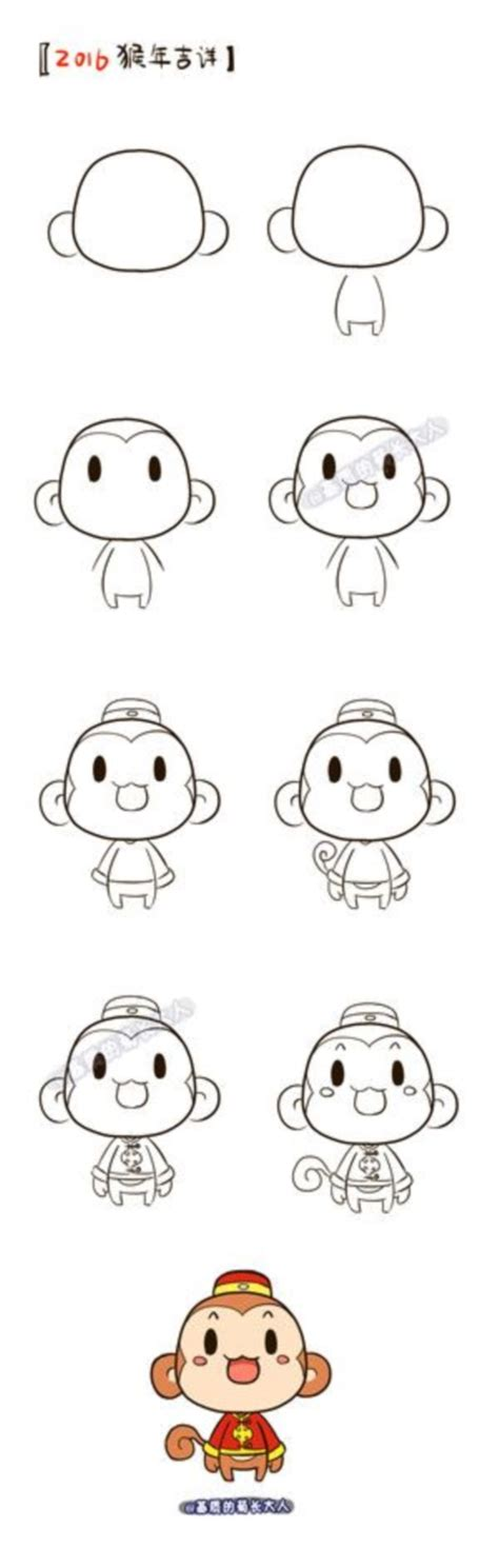 how to draw a doodle monkey how to draw doodles 40 step by step charts bored