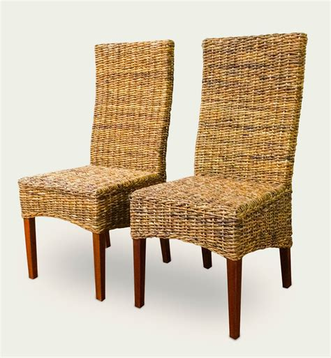Woven Dining Chairs Seagrass Two Seagrass Dining Chair