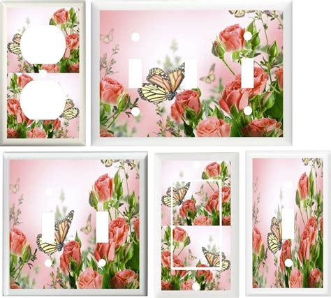 butterfly home decor beautiful pink roses butterflies home decor switch or